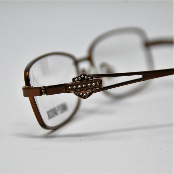 8671f3c26ade6 Harley-Davidson eyeglass frames bronze crystals